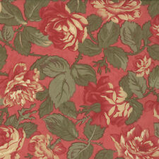 MODA Fabric ~ PARIS FLEA MARKET ~ by 3 Sister's (3725 15) Rouge - by 1/2 yard