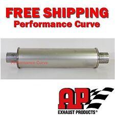 """MSL Premium Muffler / Resonator-  2.25"""" - 4"""" Round - 21"""" Long - by AP Exhaust"""