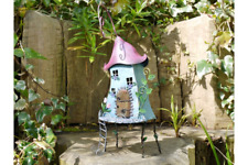 Fairy Tree House Treehouse Colourful Metal Garden Home Outdoor Patio Ornament