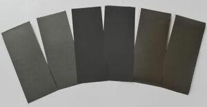Papel lija fina para plastico, resina y metal 6 unidades 1000-1500-2000 Tectime