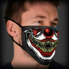 Scary Clown Teeth Face Mask Protect Mouth and Nose Reusable two Layer Unisex