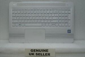 WHITE HP i5 Pavilion 15-AU077sa Palmrest Upper Cover UK Keyboard & Mousepad (g0)