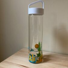 NEW Starbucks You Are Here California Glass Water Bottle