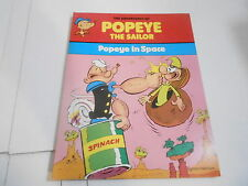 1977 POPEYE THE SAILOR - POPEYE IN SPACE - sc book ( NOS - UNREAD )
