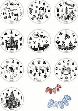 Christmas Nail Art Stamping Plate Decals