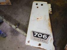 Ih Farmall 706 Diesel Tractor Left Radiator Side Panel With Emblem 117