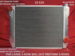 "22"" x 19"" GM Chevy Universal Aluminum Cross Flow Radiator"