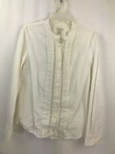 J.Crew Women's/Juniors Long Sleeves Button Front Top White Sz 10 Style #15721