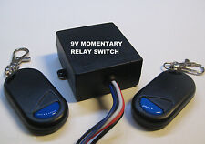 DC 9V with 9V output MOMENTARY relay switch with 2 remote control key fob RS90M