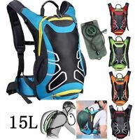15 L Bicycle Cycling bike Rucksack Backpack Hydration Pack 2L Water Bladder Bag
