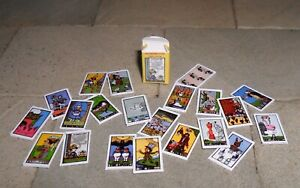 HAND-MADE DOLLS' HOUSE 1/12TH SCALE ALICE IN WONDERLAND TAROT CARDS AND BOX