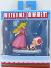 Super Mario PRINCESS PEACH & TOAD Christmas Ornament Super Mario Retired NIB