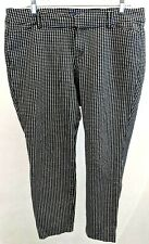OLD NAVY WOMEN'S PIXIE PANTS BLACK WHITE ANKLE SIZE 14