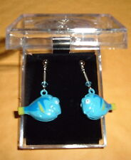 BLUE FISH - DORRIE- EARRINGS NIB Silver Plated POST Bell Nemo