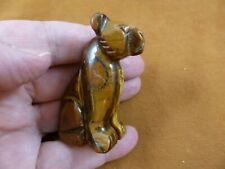 Y-CHE-714) brown Tiger's eye CHEETAH gemstone stone carving wild CATS cat statue