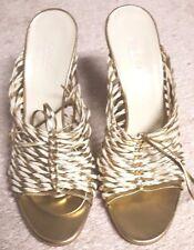 100% Authentic GUCCI Metallic Sandal (Size 8)