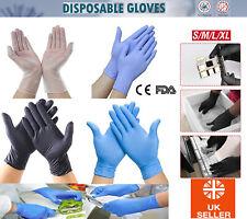 NEW Nitrile Vinyl Rubber Gloves Powder/Latex Free Black Blue Gloves PPE M L XL