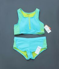 Girls Reebok 2 Piece Swim Suit Turquoise (NWT Retail $40)