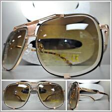 ece45920492 New OVERSIZED VINTAGE RETRO Style SUN GLASSES Square Rose Gold   Tortoise  Frame