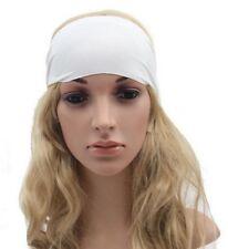 Bandeau cheveux tête fond blanc ajustable élastique.