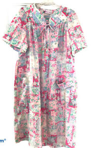 vintage Snap Front housedress the  breakfast club size medium