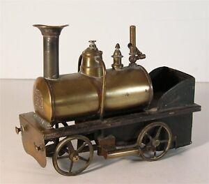 1880s LIVE STEAM RAILROAD LOCOMOTIVE MODEL TRAIN ENGINE By ERNST PLANK 3 GAUGE