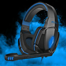 EACH G4000 Gaming Headset Stereo Headphones USB 3.5mm LED with Mic for PC Laptop