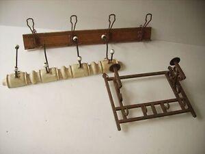 1 Stück Garderobe Kleiderhaken Kleiderständer  Holz  Metall