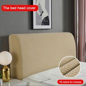 Elastic Bed Headboard Cover Polar Fleece Thicken Plain Dyed Polyester Cover
