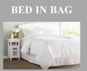 8 Piece Bed In A Bag  Comforter Sheet Bed Skirt Sham Set