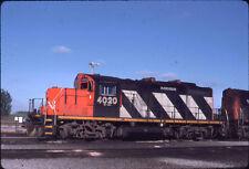 CANADIAN NATIONAL RAILROAD  CN CNR GP9u 4020 KODACHROME ORIGINAL SLIDE