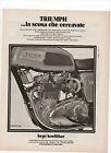 Pubblicità epoca 1973 TRIUMPH TRIDENT MOTO CROSS MOTOR advert werbung reklame