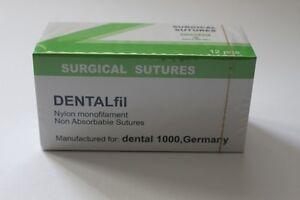 DENTALfil 3-0 (Nadel 18 mm 1/2 Kreis schneidend) Nahtmaterial Nylon monofil