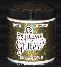 PLAID FOLKART 'EXTREME GLITTER PAINT' Acrylic (You Choose Paint Colour) NEW
