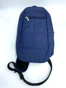 Travelon Navy Blue Crossbody Sling Bag Mini Backpack RFID Blocking