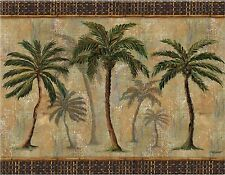 PALM TREES #2  MOUSE PAD  IMAGE FABRIC TOP RUBBER BACKED