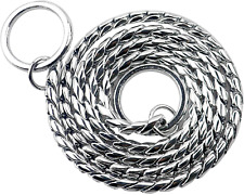 Z-Meng P Choke Collar Snake Chain Dog Training Collar Copper/Stainless Pet Rope,