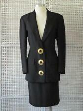 Vtg 70s/80s Valentino Boutique~Italy~Couture Art Button Jacket Blazer Skirt~12=M
