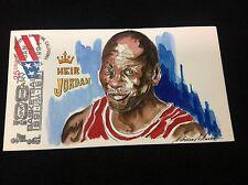 Michael Jordan Heir Jordan 1991  Hand Painted Wild Horse Cachet #41150