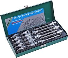 HONITON 16pc 1/2' Dr. Hex Allen Key Socket Bit Set CR-V Steel Metal Case