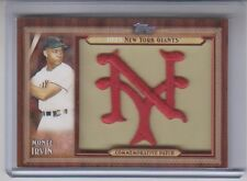 2011 Topps Update Monte Irvin Throwback Manufactured Patch Card NM Condition