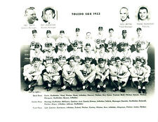 1953 TOLEDO SOX 8X10 TEAM PHOTO  BASEBALL OHIO USA JETHROE AAA CONLEY
