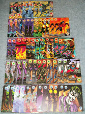 DC OVERPOWER POWER CARD LOT OF 54   ENERGY, FIGHTING, STRENGTH, INTELLECT, MULTI