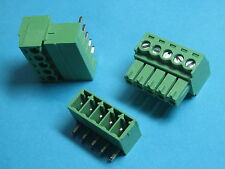 10 pcs Pitch 3.5mm Angle 5way/ pin Screw Terminal Block Connector Pluggable Type