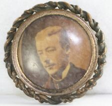 Victorian Antique Attractive Man Photograph Picture Pin