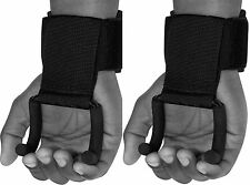 RDX Pro Weight Lifting Training Gym Hook Grips Straps Gloves Wrist Support Lift