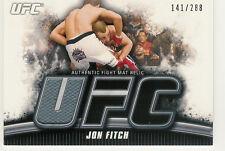 2010 TOPPS UFC KNOCKOUT JON FITCH FIGHT MAT RELICS /288 UFC 76