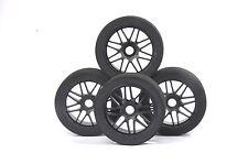 4X 1/8 Tire Wheel Rims Set Sponge Racing For HSP HPI GT XO-1 RC Car 17mm Hex