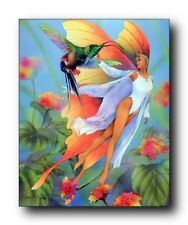 Lady Butterfly and Fairy Bathroom Wall Decor Art Print Poster (16x20)