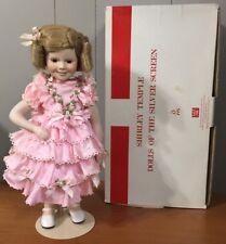 SHIRLEY TEMPLE DOLL ~ Pink Dress - PORCELAIN ~DANBURY MINT ~ Silver Screen